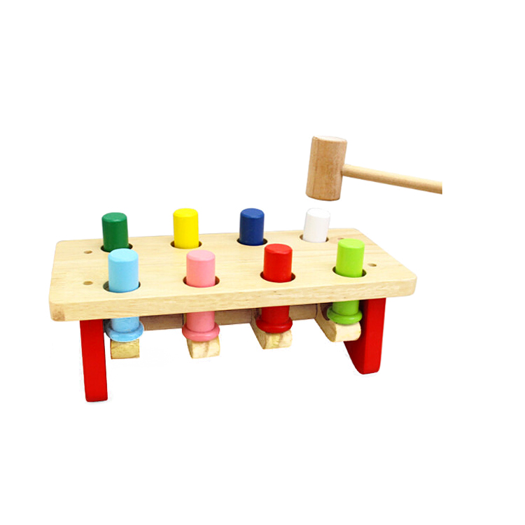 Fq Brand New Diy Kids Custom Wooden Toys Colourful Knocking Table Pounding Bench Toddler Toy Buy Toddler Toy Knocking Table Wooden Toys Product On