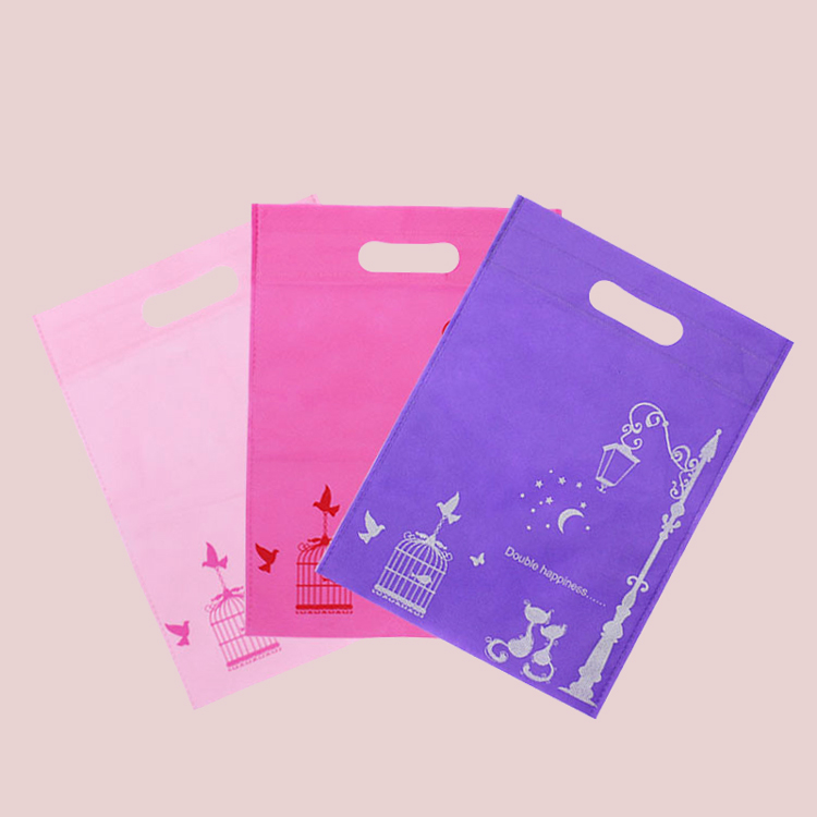 Customize folding non-woven shopping bag with logo printed