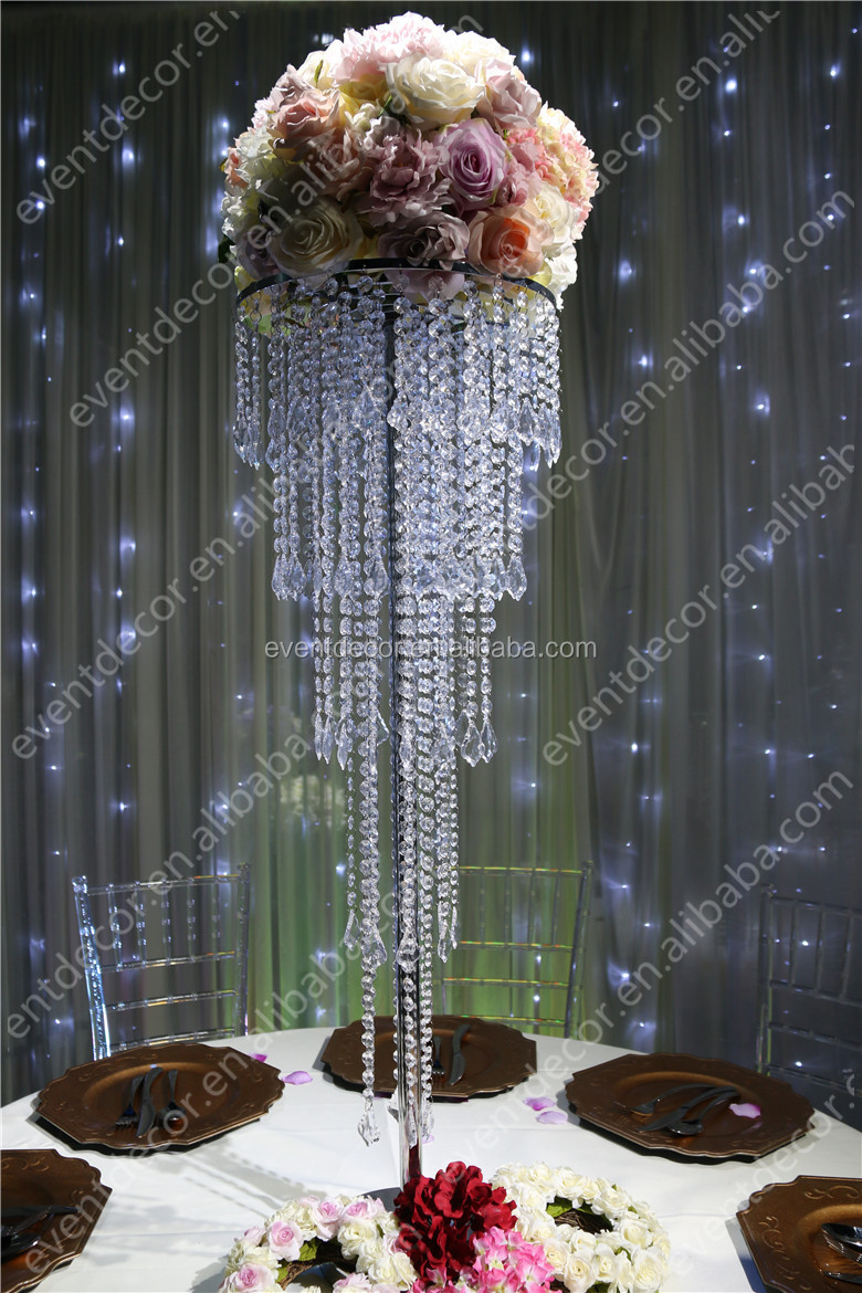 5 Tiers Crystal Centerpieces For Wedding Table Wholesale Crystal Wedding Centerpiece For