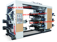 YT-6800 six colors plastic roll to roll flexographic printing machine
