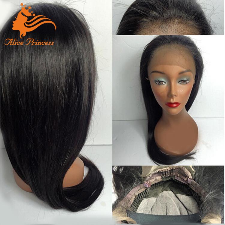5bbbcdbedbbbb 6a درجة الماليزي مستقيم الشعر كامل الدنتلة مع الطفل شعر الحرة فراق الطبيعي  ايمو dreadlock لمة