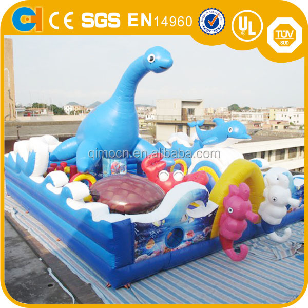 Giant ocean inflatable party city,inflatable fun city inflatable fun island for kids