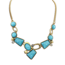 cheap fashion jewelry made in china wholesale african jewelry turquoise stone boys bead china necklace PN1270