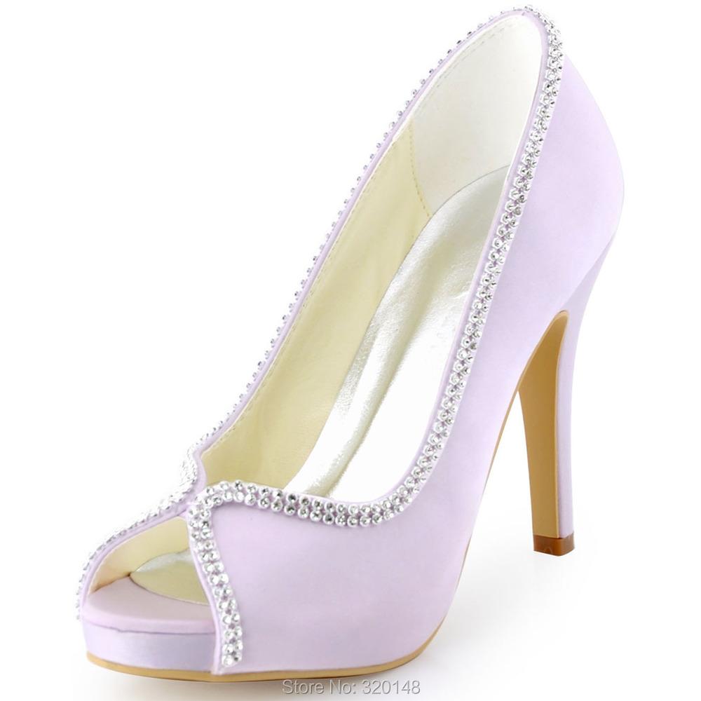 74b58c0316e42d Get Quotations · New Arrival EP11083-IP Women s Lavender Elegantpark Peep  Toe Platform Rhinestones High Heel Prom Pumps