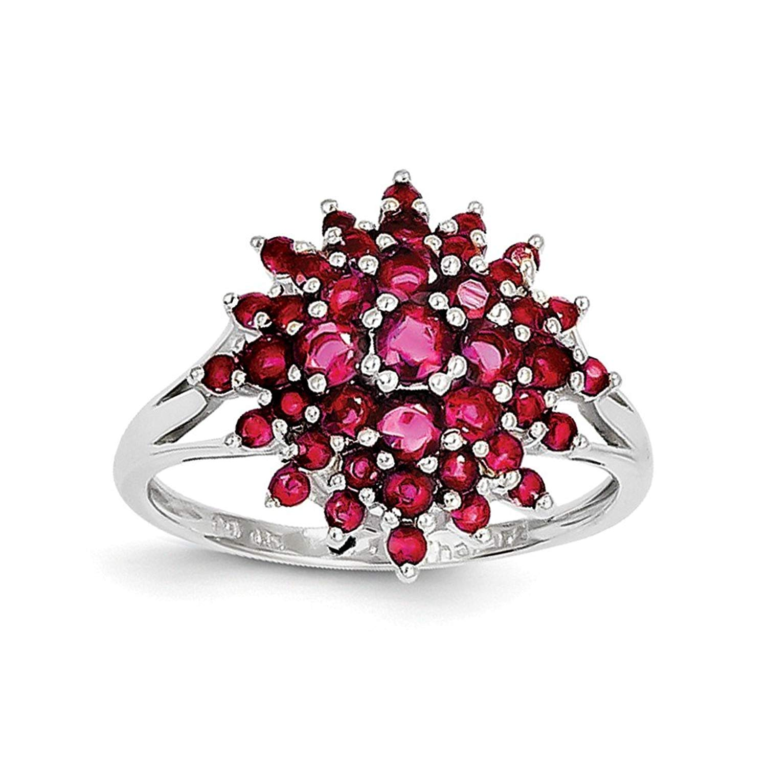 Best Designer Jewelry Sterling Silver Rhodium-plated Ruby Ring