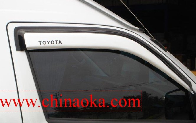 toyota hiace door visor window visor weather guard
