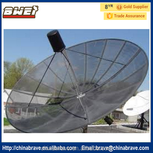 wind resist c band mesh antenna support rotate with motor
