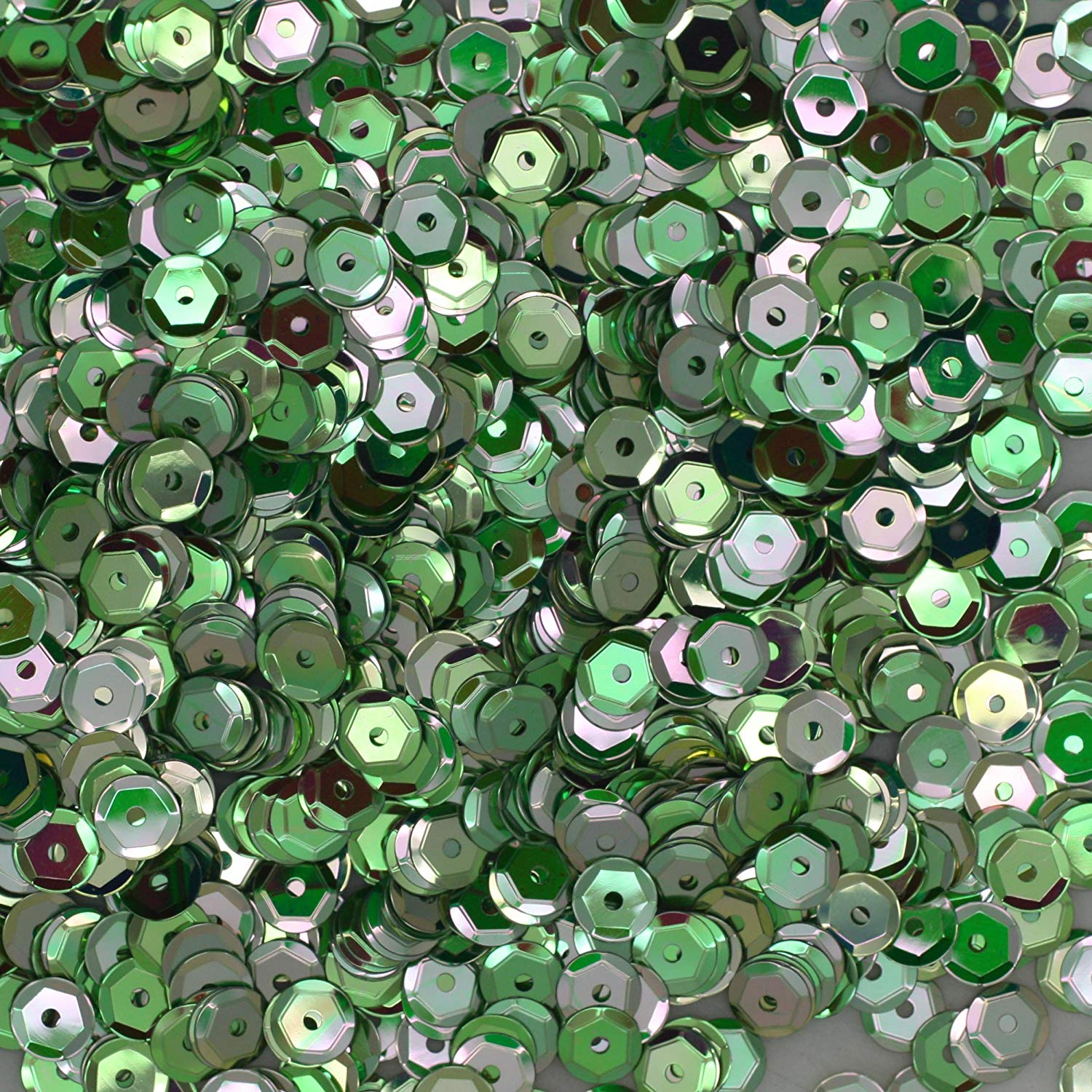 Made in USA 5mm Cup Sequins Silver Hologram Glitter Sparkle Metallic