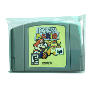 Hot Selling PAL version retro games N64 paper Mario