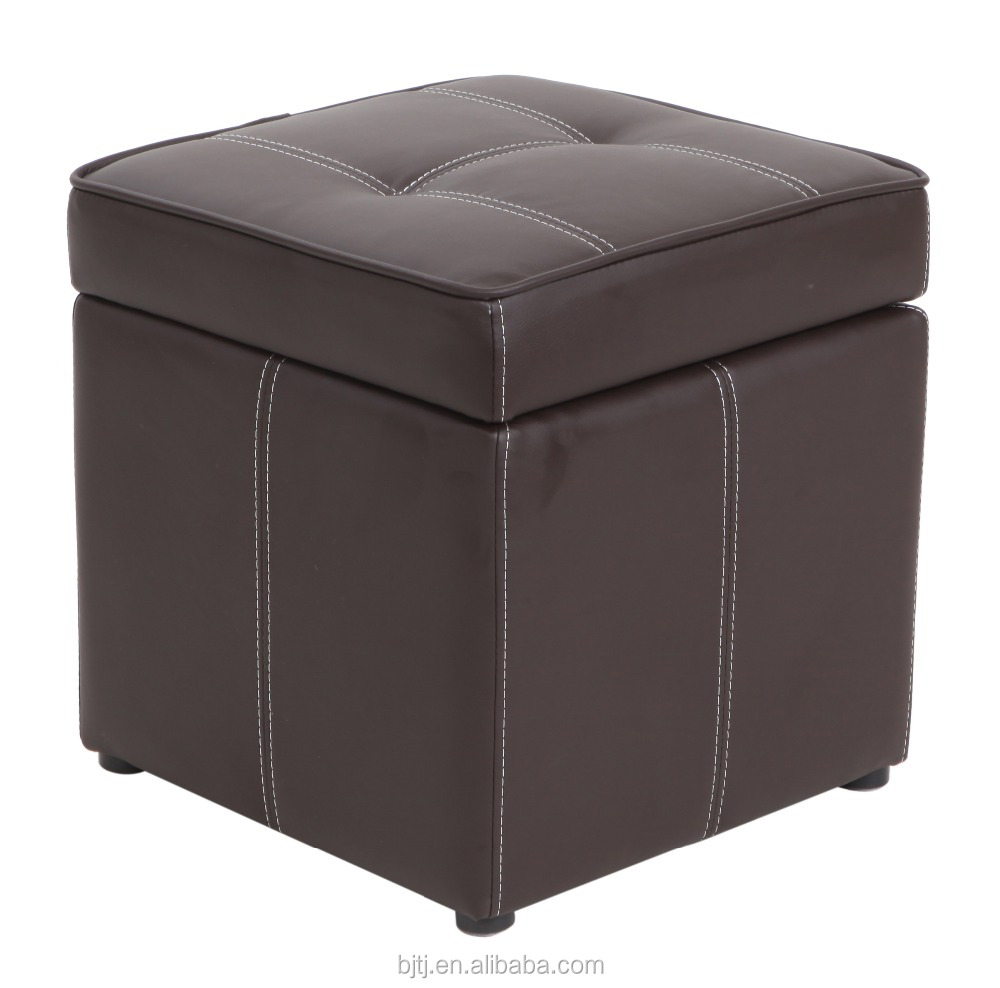 BJTJ Square Ottoman with storage, plastic legs 0219