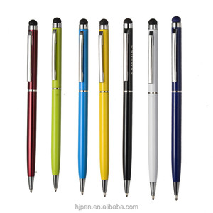 Promotional items multifunction colors slim metal uni ball pen with stylus