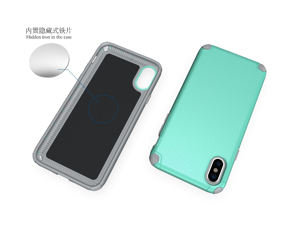 Magnetic inner iron anti-skid shockproof case mobile phone case for iphone 8