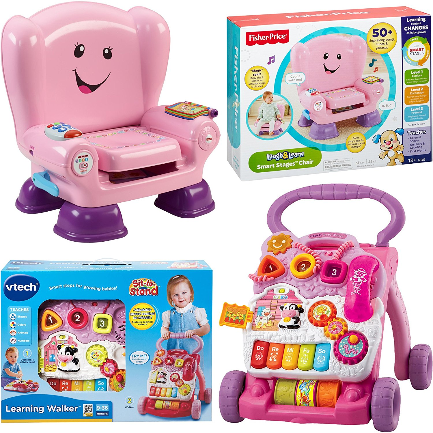 Pleasant Buy Vtech Sit To Stand Learning Walker And Fisher Price Theyellowbook Wood Chair Design Ideas Theyellowbookinfo