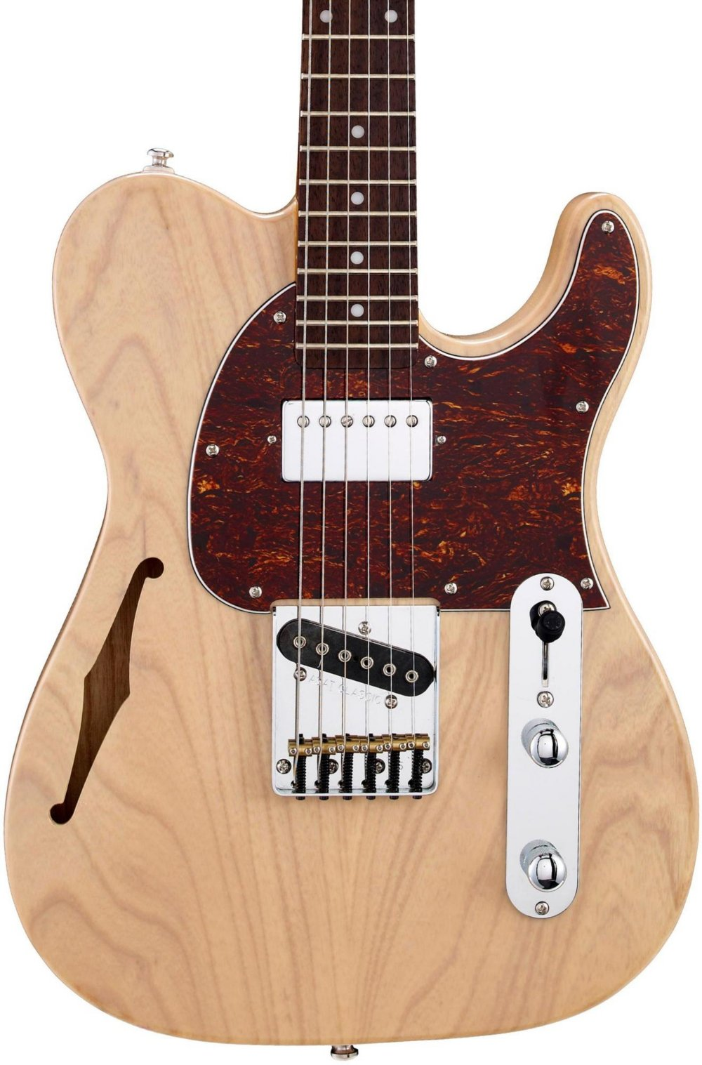 G&L Tribute ASAT Classic Bluesboy Semi-Hollow Electric Guitar Blonde Rosewood Fretboard