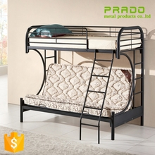 Hot sales iron dormitory bunk beds twin over bed with stairs of school