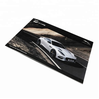 285*195mm 20P high quality cheap burst perfect binding car brochure printing with shanghai brochure printing in shanghai
