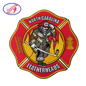 Custom logo patch NORTH CAROLINA LEATHERHEADS design embroidery patches