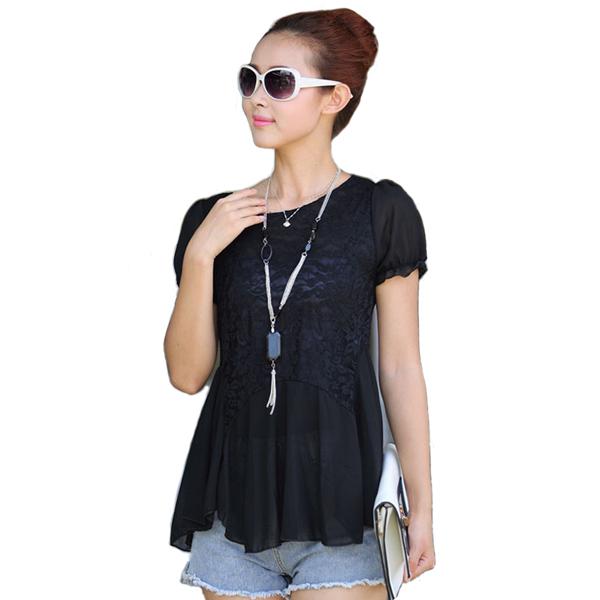 61ba964a8 Get Quotations · lace shirt blusas plus size xxxl women clothing peplum top  white lace blouse big size shirt