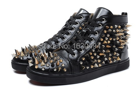 9eefe3f41a5e Get Quotations · Sneakers Womens Designer Shoes Women s Shoes Sport Casual  Brand Shoes Punk Spiked Rivets Red Bottoms Sneakers