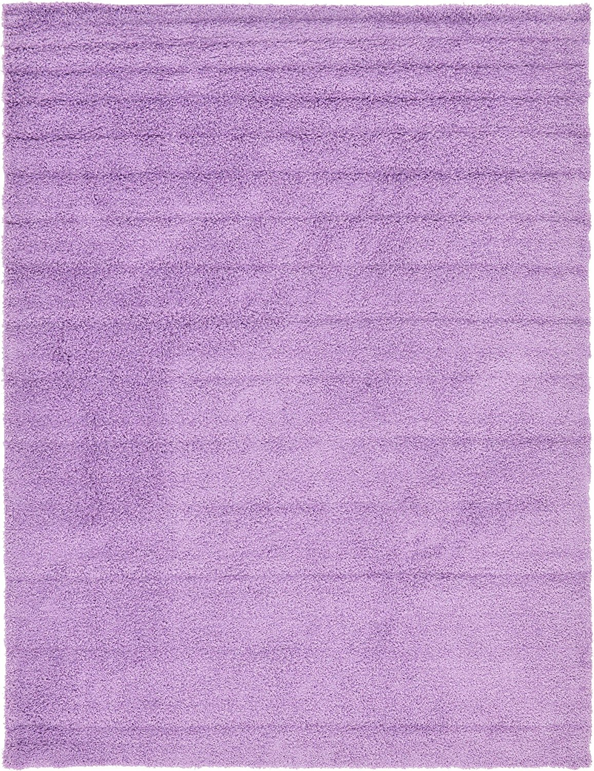A2Z Rug Cozy Shaggy Collection 9x12-Feet Solid Area Rug - Lilac