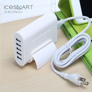 top sale battery quick charger 5 port USB charging dock stand station