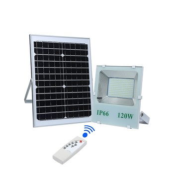 High brightness ip65 waterproof aluminum smd 60 120 200 watt solar led floodlight