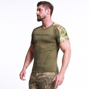 ESDY Sports Hunting T-shirts Men Outdoor Hiking Tactical Short Sleeve Shirts