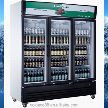 1500l Display Upright Beverage Cooler Beer Refrigerated Cabinets