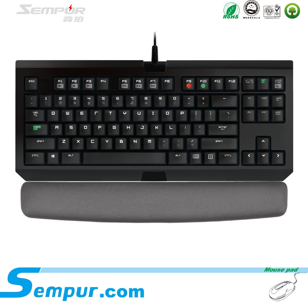 SEMPUR silicone gel keyboard pad with gel inside black