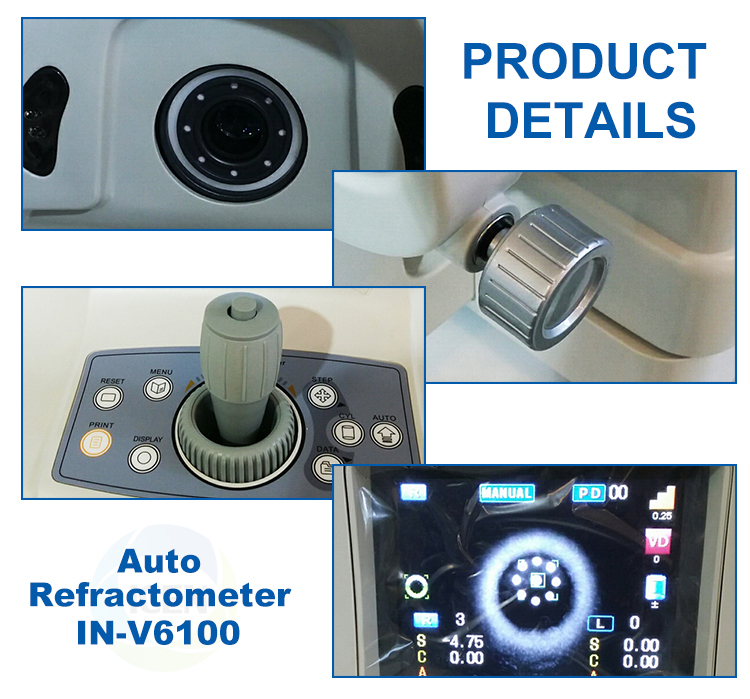 IN-V6100  Hot sale Price china Optical Equipment  keratometer  Auto Refractometer For Sale