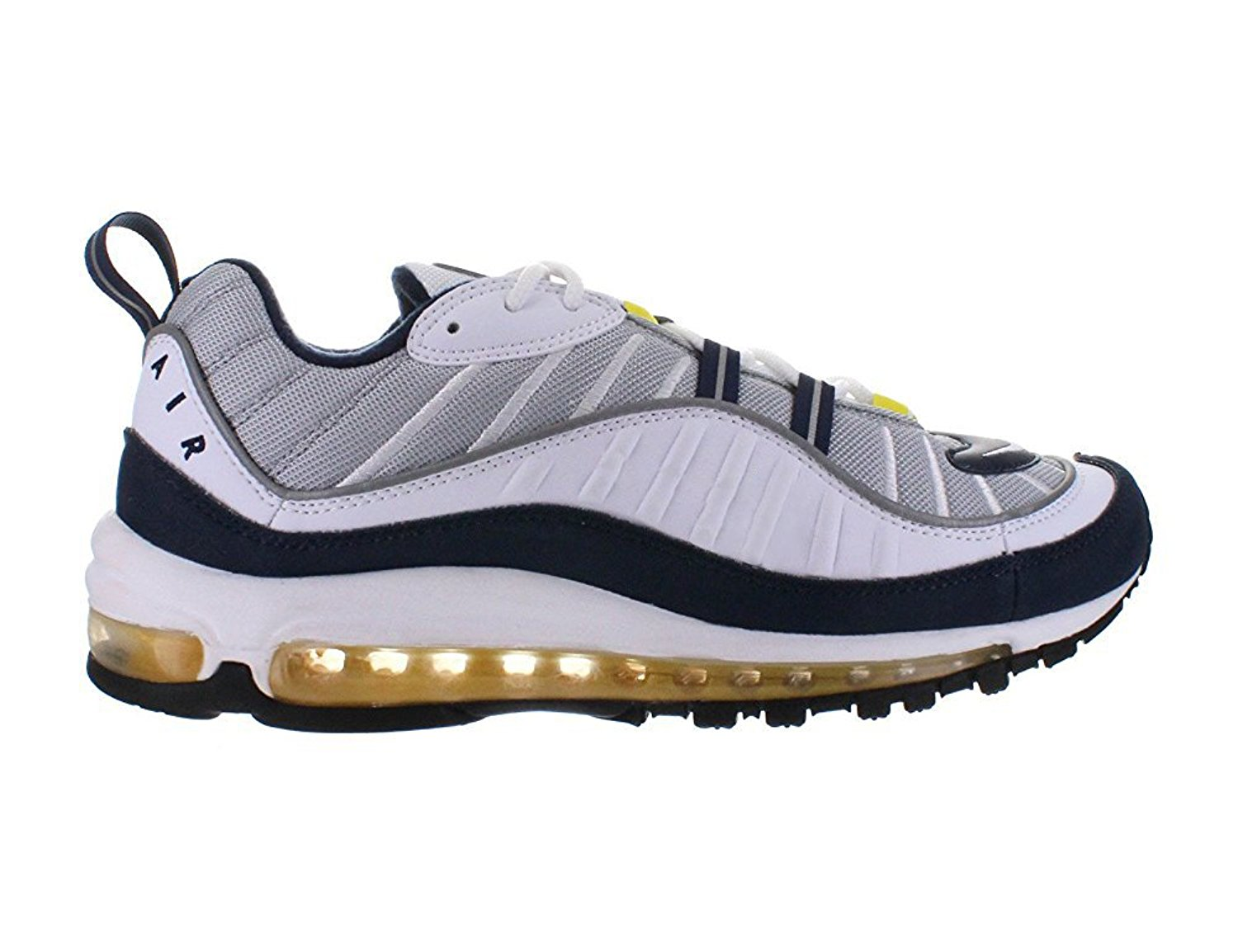 Get Quotations � Air Max 98 Wolf Grey - Tour Yellow - White - Midnight Navy  Mens 10 D