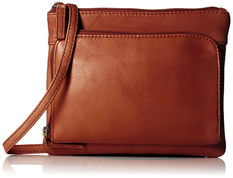 Get Quotations Visconti Sling Bag Handbag Leather Messenger For Las Brown One Size