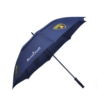 Double Canopy Layer Storm Rain Rolls Royce Slogan Monsoon Umbrell Windproof Golf Umbrella