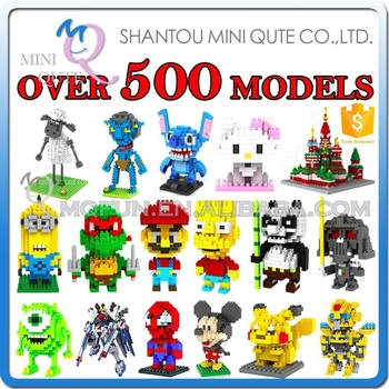 2016 new products Mini Qute loz diamond block 3d puzzle educational toys 3d games 3d puzzle toy