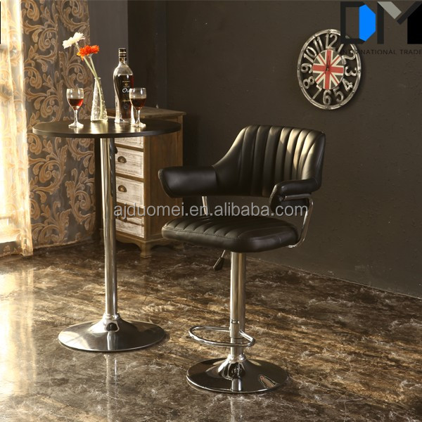 Barstool Bar Kitchen Dining chair Bar armchair black chrome