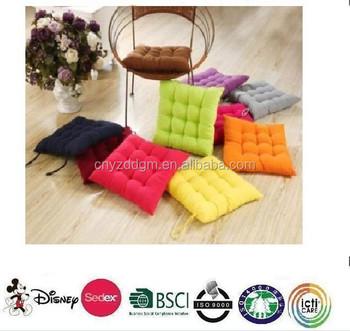 Rückenpolster Für Stuhl/gartenstuhl Kissen/fabrik Großhandel 100% Baumwolle  Quadrat Indoor Esszimmerstuhl