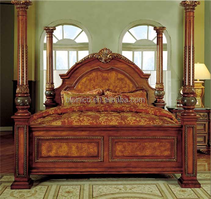 Bisini Muebles De Lujo,Muebles De Dormitorio Antiguo Rey Tamaño Cama ...