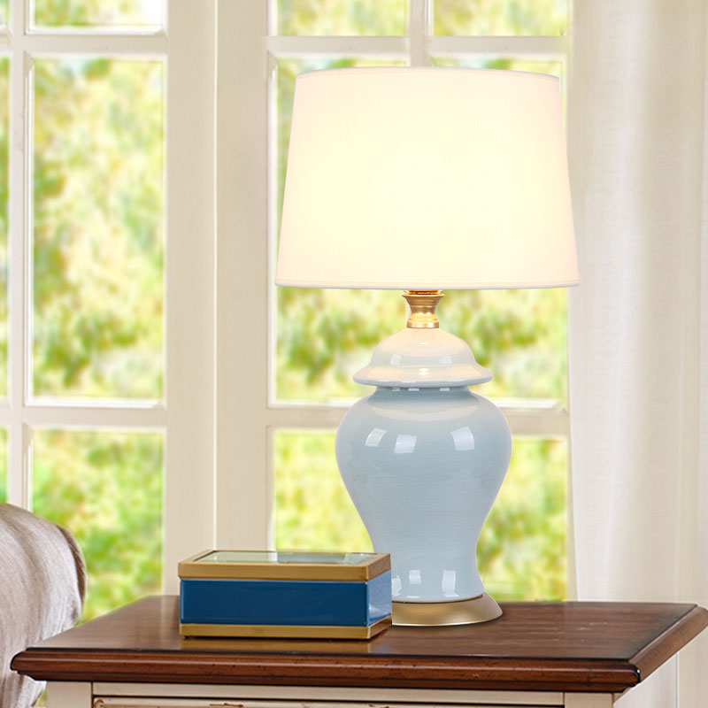 Accent Lighting Of Contemporary Table Lamps For Living: Modern Ceramic Table Lamp Bedside Porcelain Lamp Living