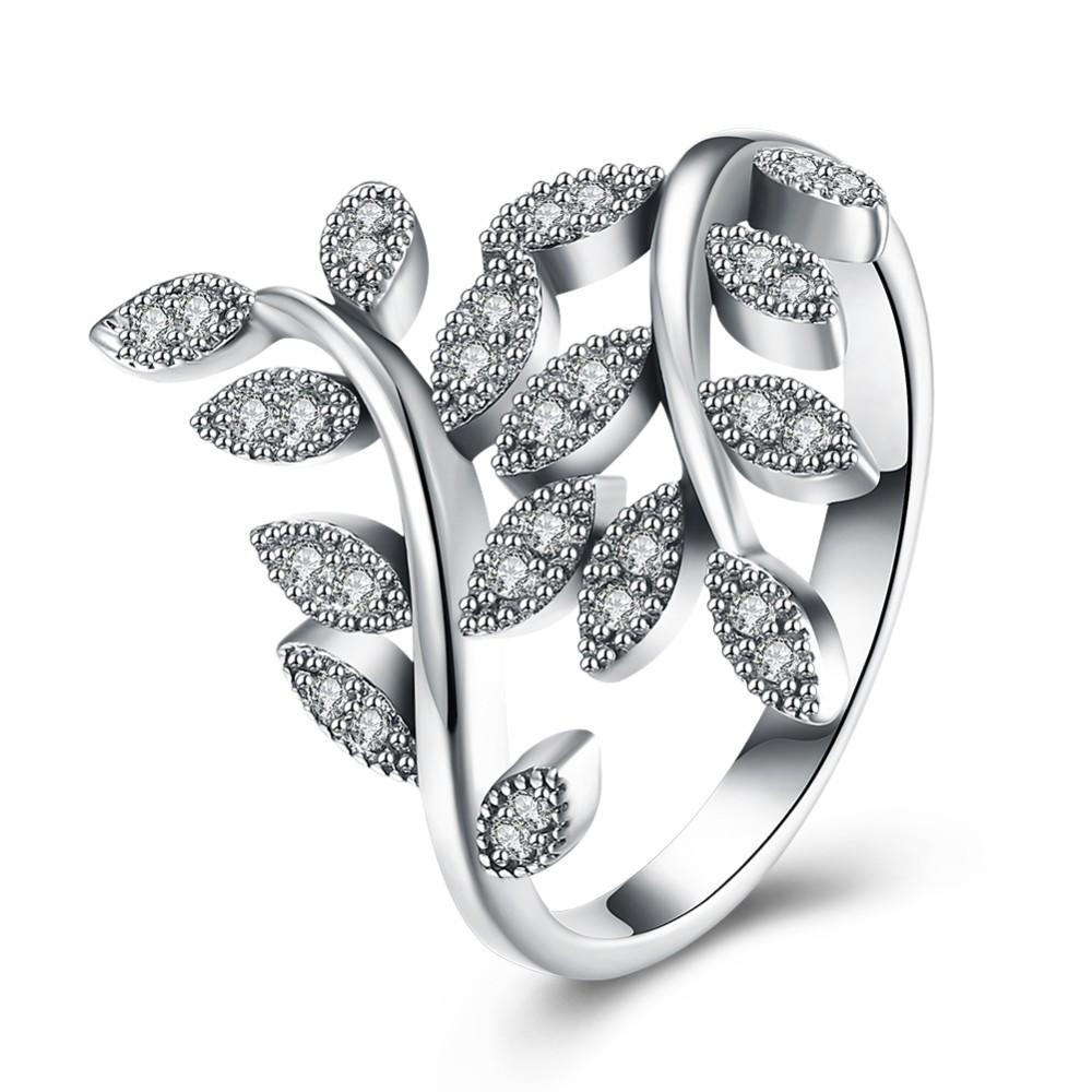 olive leaf ring multi gemstone 925 sterling silver rings tree branch Leaf Tube olive leaf ring multi gemstone 925 sterling silver rings tree branch shaped ring