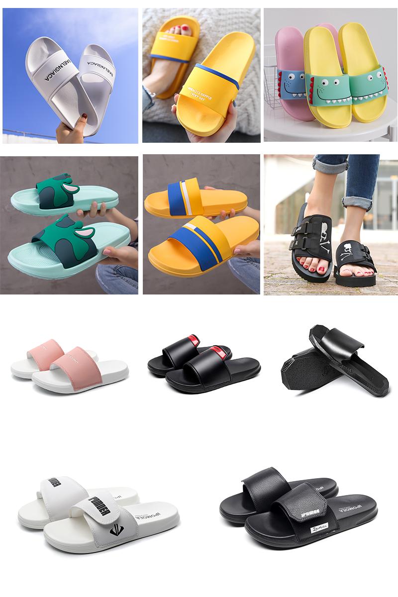 2019 latest design women summer  slippers Custom logo lady branded eva flat rainbow  jelly slide sandals