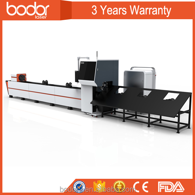 low cost stainless steel silver tube cnc fiber metal yag laser cutting machine