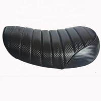 Motorcycle Black Cafe Racer Vintage Style Seat New Material Carbon Fiber Seat Customize Accept