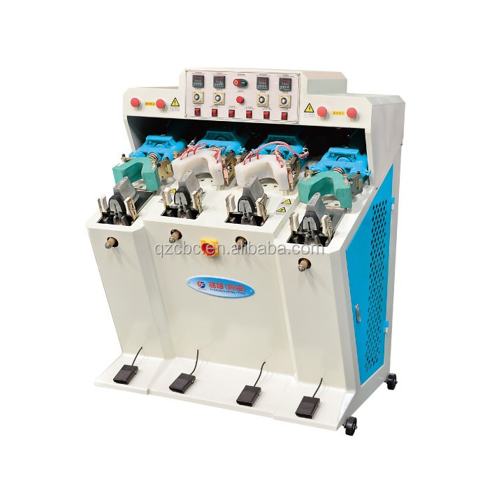 Hot sale shoe heel making vertical molding machine with two cooler and two heater( air bag type)