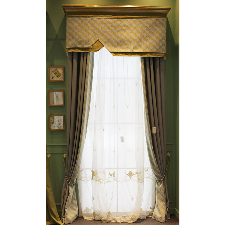 Custom Made Two Layer Embroidered Linen Thai Silk Curtains