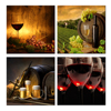 Multi Panel Beer Picture Canvas Painting Sparkling Wine Canvas Print Wine Chateau Picture Canvas for Bar Decoration