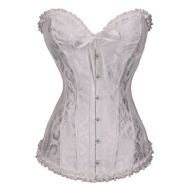 Wholesale Colorful Overbust Long Torso Waist Corset Tops Women's Corset & Bustier
