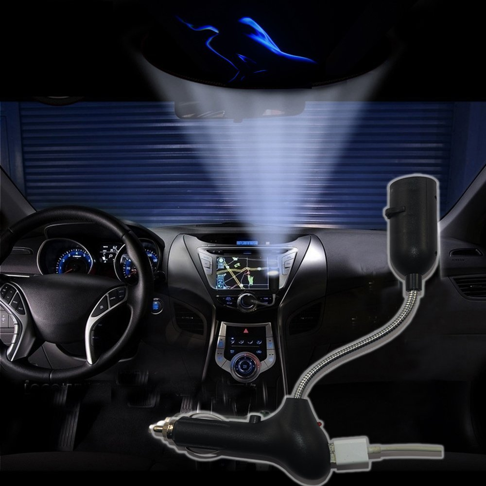 SHE'O® Sexy girl beauty back side profile USB Car Cigarette lighter roof logo laser projector shadow ghost LED light lamp projection light atmosphere reading light ON/OFF