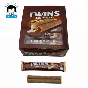 Twins Wafer Roll Chocolate Biscuits Crispy Chocolate Biscuits Stick Chocolate Candy Sweet