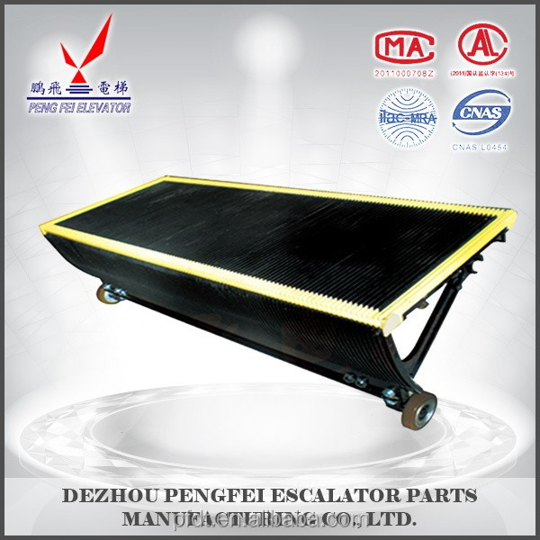 Sigma Stainless steel all round black escalatotr parts elevator step