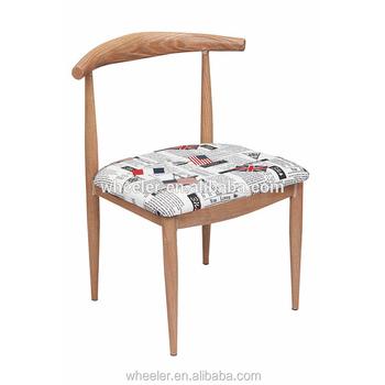 North European Style Stackable Dining Chair Designer Furniture Replica Hans Wegner  Elbow Chair